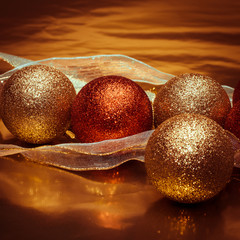 shining christmas balls