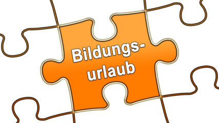 ptk8 PuzzleTeilGrafik ptk-v2 - Bildungsurlaub - orange - g2465