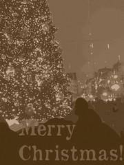 Christmas city lights vintage