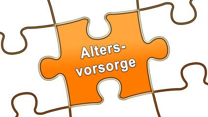 ptk12 PuzzleTeilGrafik ptk-v3 - Altersvorsorge - orange - g2469