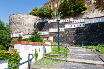 fortification in town Litomerice, Bohemia, Czech republic