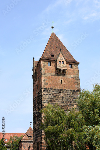 canvas print picture Schuldturm Nürnberg