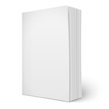Blank vertical softcover book template with pages. - 72826760