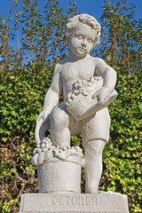 Vienna - The symbolic sculpture of october in Belvedere
