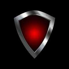 Red silver shield.
