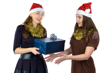 Image of two women with the gift