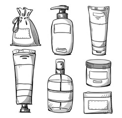 Cosmetics packaging design. Vector