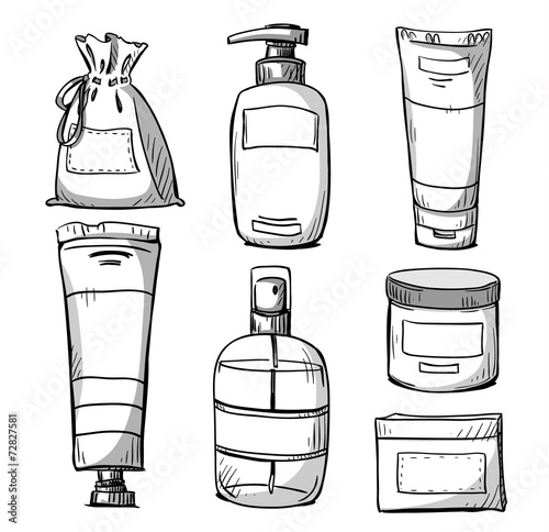 Cosmetics packaging design. Vector - 72827581