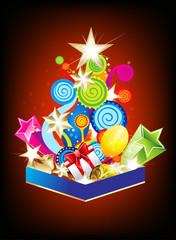 explode christmas tree background