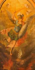 Trnava - paint of archangel Michael from St. Nicholas church