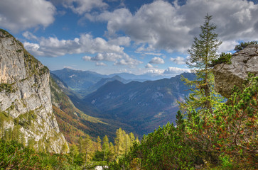 Autumn in the mountains in Julia Alps