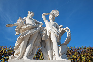 Vienna - The sculpture in the gardens of Belvedere palace