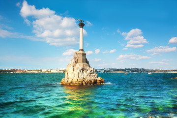 Monument to  flooded ships in Sevastopol, Crimea