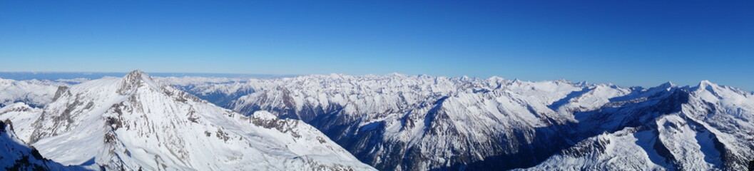 panorama in the alps