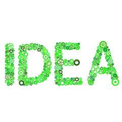 "Word ""Idea"" vector from gears"
