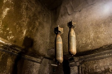 WW2 bombs exposed in Naples underground