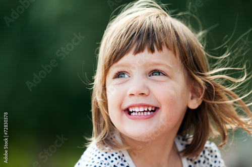 canvas print picture  laughing girl