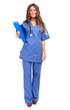 Full length young nurse