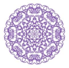 Circle purple lace star pattern