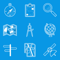 Blueprint icon set. Navigation