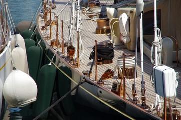 pont d'un navire à voile