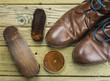 canvas print picture - shoes and shoe polish