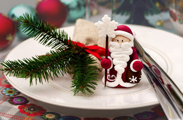 Christmas ans New Year table decoration