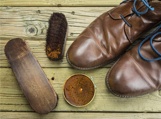 shoes and shoe polish