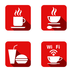 Food Platter Icon Symbol Vector