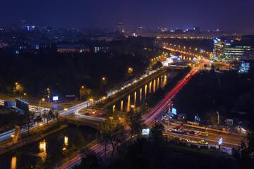Night cityscape , Bucharest,