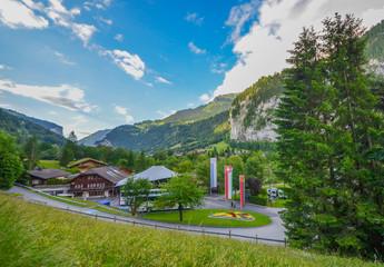 Beautiful Lauterbrunnen village, Switzerland