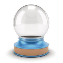 Empty Snow Globe on a blue base.