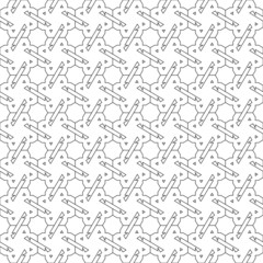 Black and white seamless pattern background.