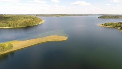 Blick über einsamen See