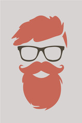 Hipster hair fashion look 2015 vector