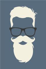 hipster estilo peinado y barba 2015 vector