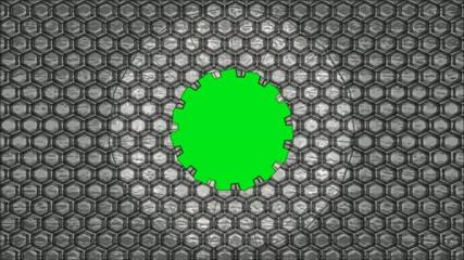Greenscreen Hexagon Öffnung