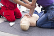 Leinwanddruck Bild - First aid training