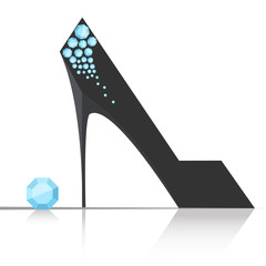 Elegant women high heel shoe vector isolated