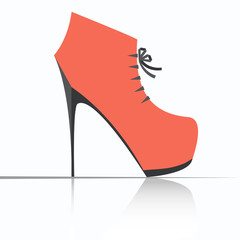 Autumn shoes with high heels