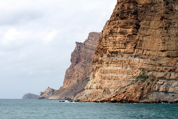 Cliffs in Sierra Helada of Benidorm city