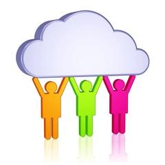 Wolke und Team