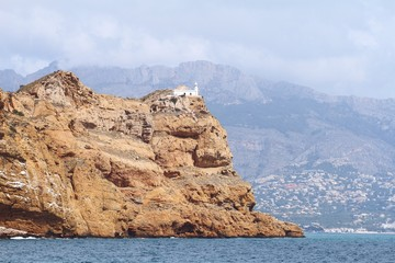 El Albir lighthouse in Benidorm coast