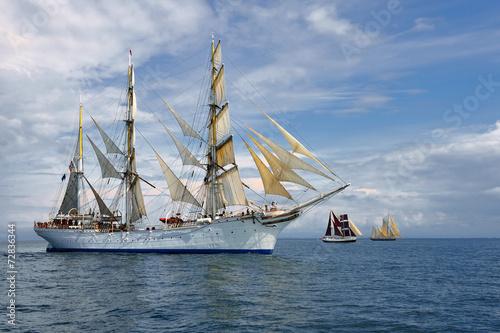 Sailing ship. Series of ships and yachts - 72836344