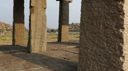 Walk around ruins of Vittala Temple