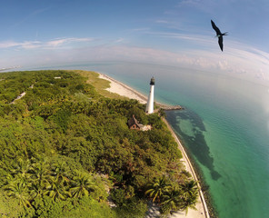 Florida lighthouse aerial view