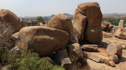 Big stones near Virupaksha Temple