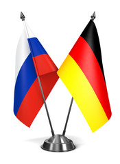 Russia and Germany - Miniature Flags.