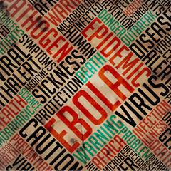 Ebola - Grunge Word Collage.