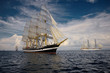 Sailing vessel. Collection of ships and yachts - 72837588